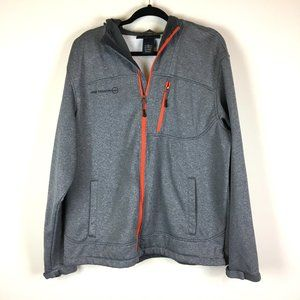 Free Country Heathered Gray Hooded Full Zip Jacket